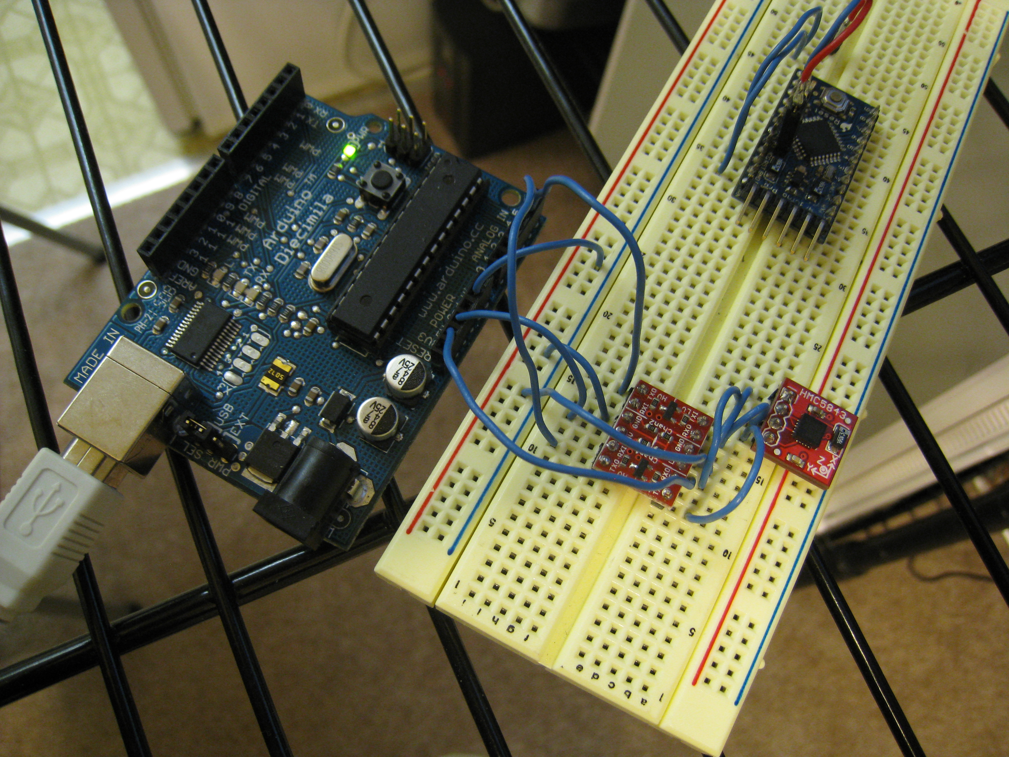 HMC5843 Magnetometer Library for Arduino | eclecticc