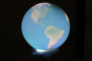 Earth in Snow Globe